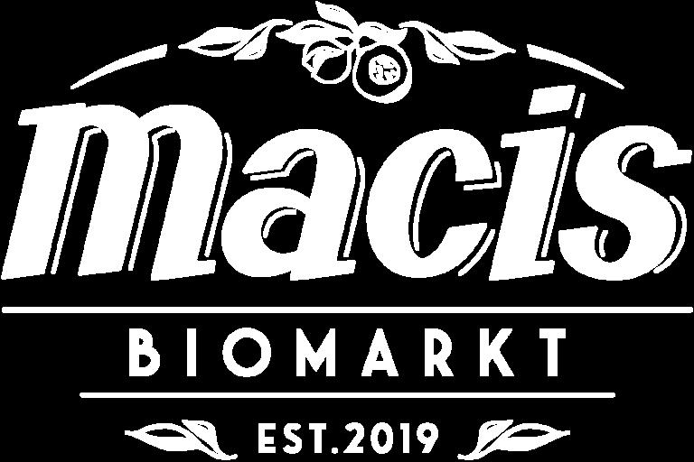 Macis Biomarkt Logo weiß