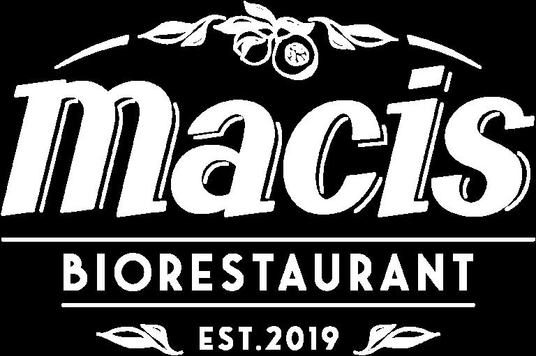 Macis Biorestaurant Logo weiß